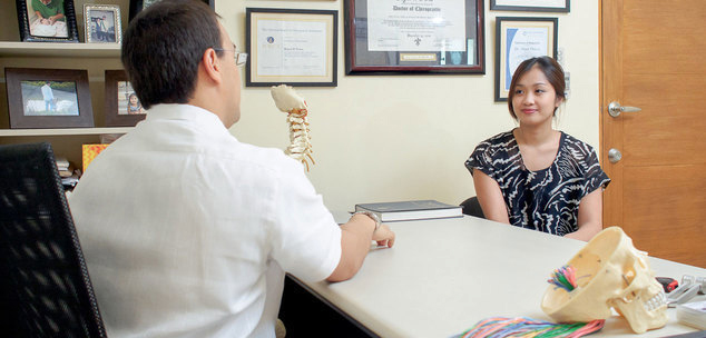 New patients at N8 Upper Cervical Chiropractic in Alabang