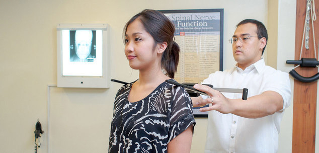 Post adjustment measurements at N8 Upper Cervical Chiropractic in Alabang